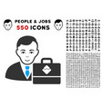 waves accounter icon with bonus vector image