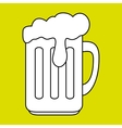 cup glass beer icon vector image