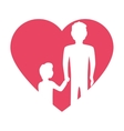 heart fathers day icon vector image
