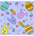 happy easter style design of doodles vector image