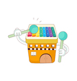 A view of xylophone vector image