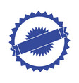 blank label stamp vector image