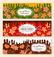 banners set of gingerbread cookies bakery vector image