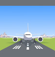 plane on the runway vector image