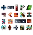 Big set of modern business square templates vector image