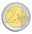2euro coin sketch vector image