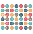 Social Media Icons setRound buttonDoodle sketchy vector image