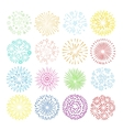 Holiday fireworks icons vector image
