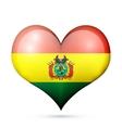 Bolivia Heart flag icon vector image