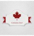 Canada Day Holiday Tag with Ribbon vector image