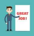 job placard vector image