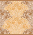 lace seamless pattern with circle details vector image