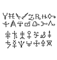 Medieval Alchemical Signs of Grimoire Magic Book vector image