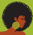profile silhouette African-American woman vector image