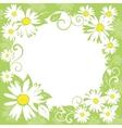 spring floral border vector image