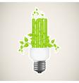 power saving green 2 vector image vector image