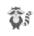 Cute cartoon raccoon on a white background vector image