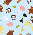 Funny animals pattern including seamless vector image