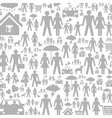 Family a background vector image vector image