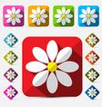 Flat Design Flowers Set vector image vector image