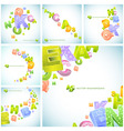 letters abstract background vector image vector image