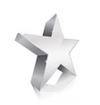 3d star silver vector image vector image