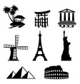landmark icons vector image