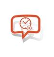 Add time message sticker orange vector image