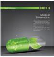 medical theme flyer brochure vector image vector image