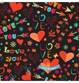 Valentines Day floral seamless pattern vector image