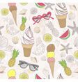 Cute summer abstract pattern vector image