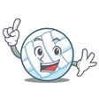 finger volley ball character cartoon vector image