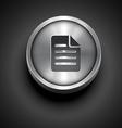 metallic paper note icon vector image