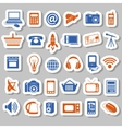 modern technology stickers vector image