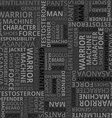 Pattern with different words to the fathers day on vector image