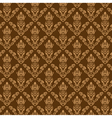 Seamless Damask Wallpaper 2 Cream Color vector image