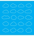 Set of Thin Line Clouds Icons Cloud Shapes vector image