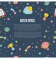 Outer Space Cartoon Web Banner vector image