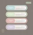 Sticker Label color set Vintage style vector image