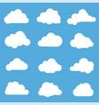 clouds flat design elements set vector image