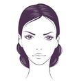 face girl vector image vector image