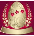 gold elegance easter red frame vector image vector image
