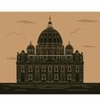 City buildings graphic template Saint Pyotr vector image
