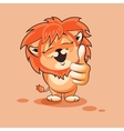 Lion cub thumb up vector image