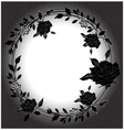 Floral background with rose black and white vector image