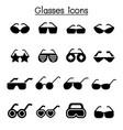glasses icon set graphic design vector image