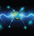 global telecoms concept background vector image