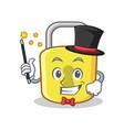 magician yellow lock character mascot vector image