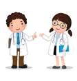 Profession costume of doctor for kids vector image
