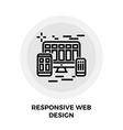 Responsive Web Design Line Icon vector image